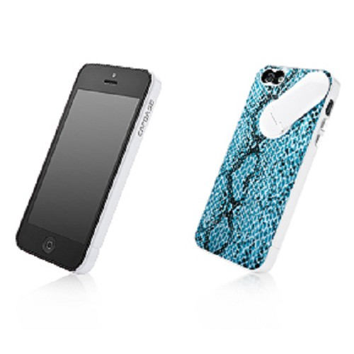CAPDASE Snap Jacket Snak Series for Apple iPhone 5/5s [AJIH5-1S32] - Blue - Casing Handphone / Case